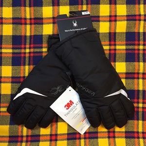 "NWT Spyder ""The Edge"" Performance Ski Gloves, S/M"